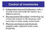 control of inventories1