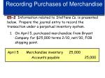 recording purchases of merchandise1