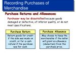 recording purchases of merchandise4