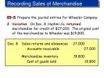 recording sales of merchandise6