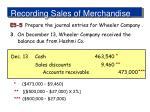 recording sales of merchandise9