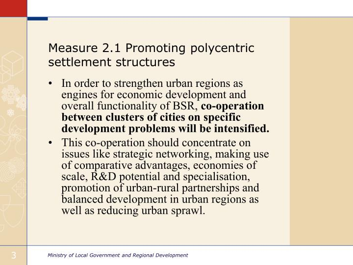 Measure 2 1 promoting polycentric settlement structures1