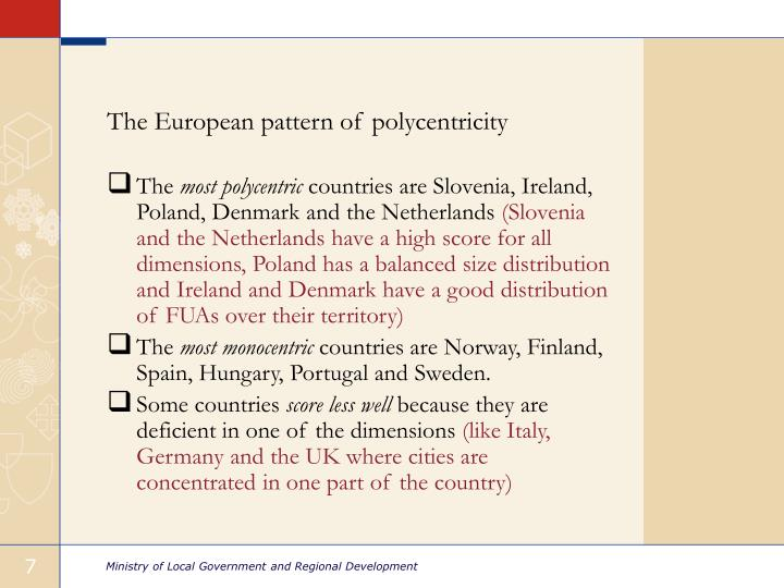 The European pattern of polycentricity