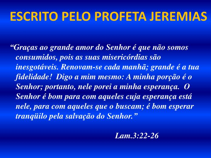 ESCRITO PELO PROFETA JEREMIAS