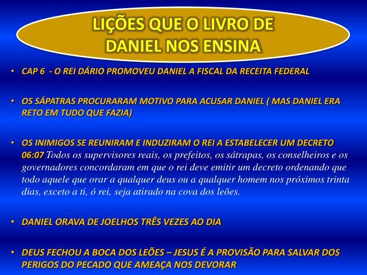 LIÇÕES QUE O LIVRO DE DANIEL NOS ENSINA