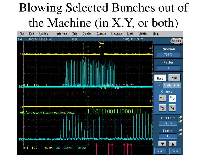 Blowing Selected Bunches out of the Machine (in X,Y, or both)