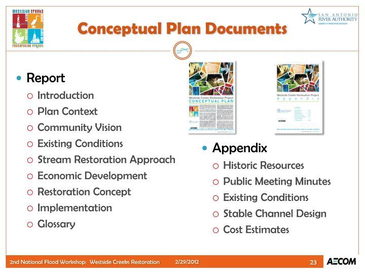 Conceptual Plan Documents