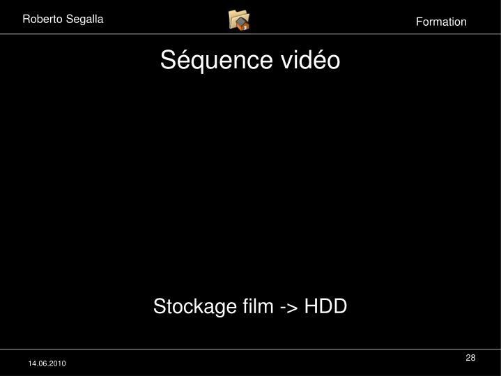 Séquence vidéo
