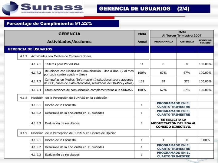 GERENCIA DE USUARIOS    (2/4)