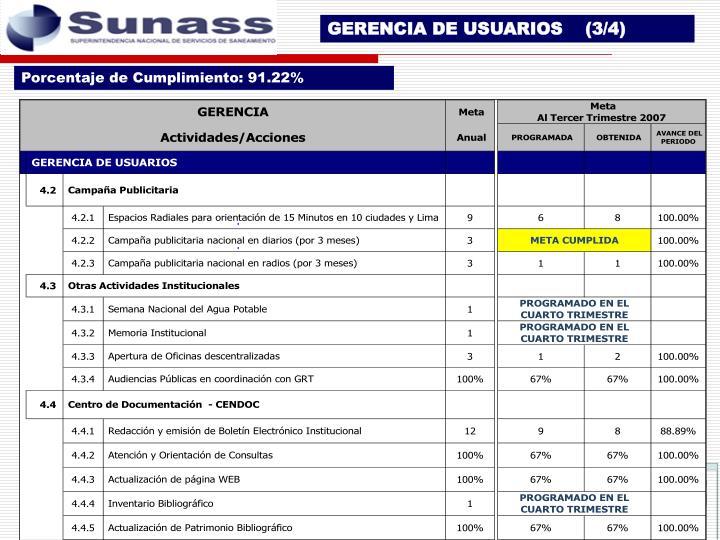 GERENCIA DE USUARIOS    (3/4)