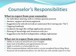 counselor s responsibilities