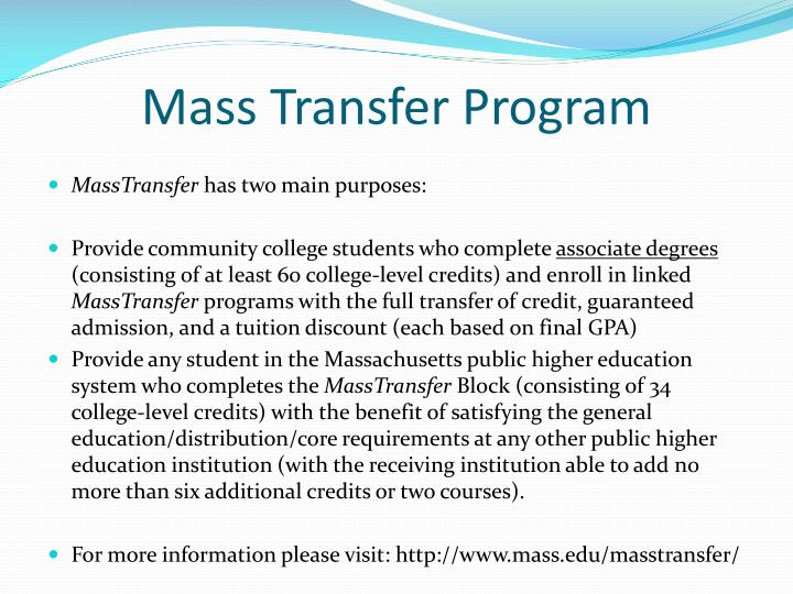Mass Transfer Program