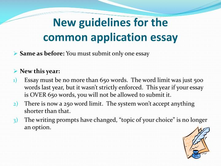New guidelines for the