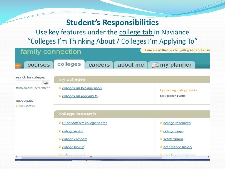 Student's Responsibilities