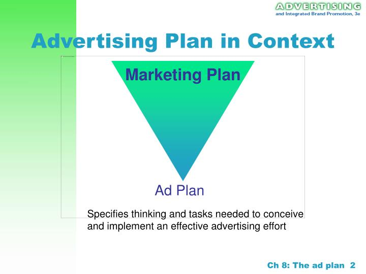 Advertising plan in context