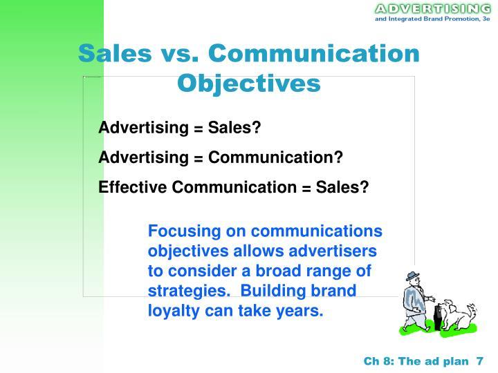 Advertising = Sales?