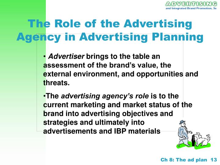 The Role of the Advertising Agency in Advertising Planning