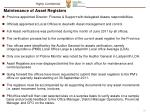 maintenance of asset registers