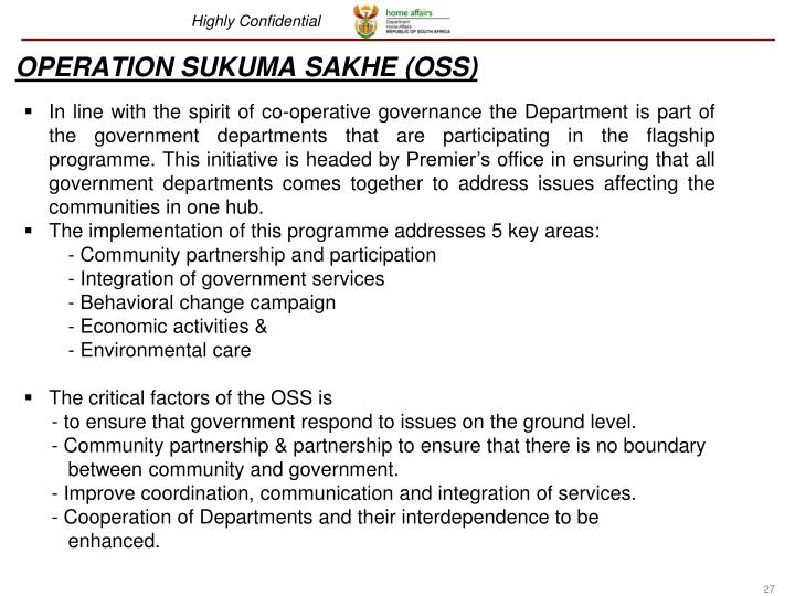 OPERATION SUKUMA SAKHE (OSS)
