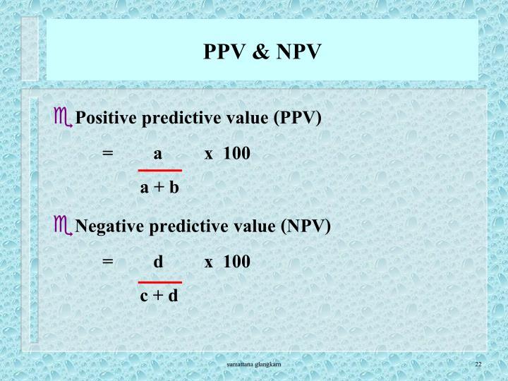 PPV & NPV