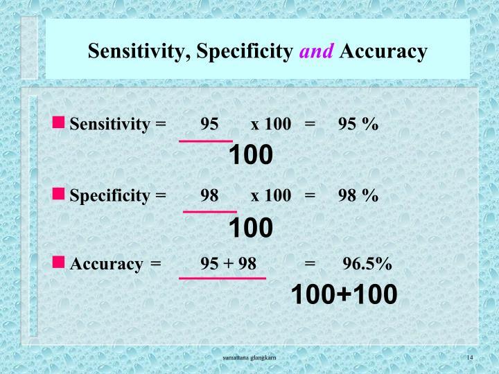 Sensitivity, Specificity