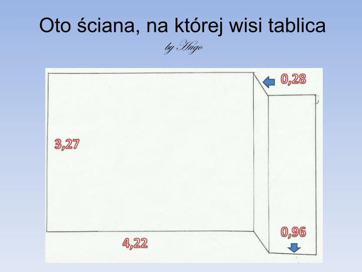 Oto ciana na kt rej wisi tablica by hugo