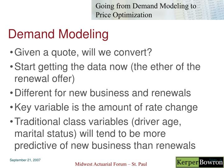 Demand Modeling