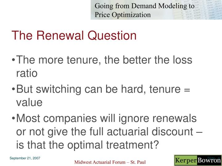 The Renewal Question