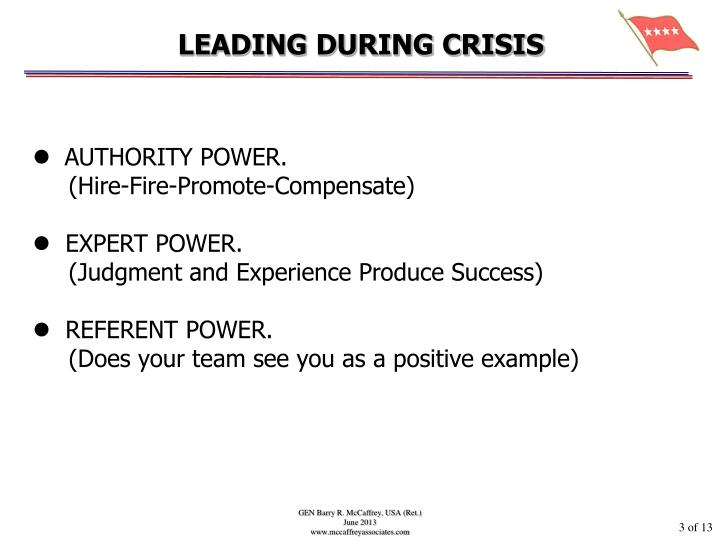 Leading during crisis