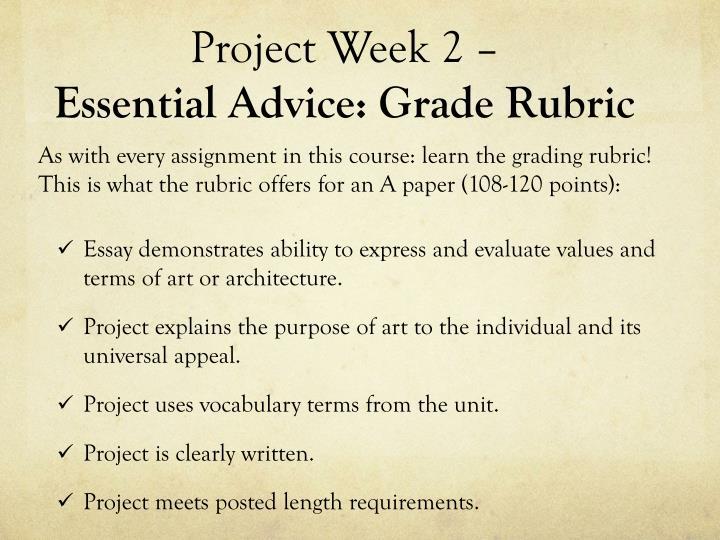 Project Week 2 –