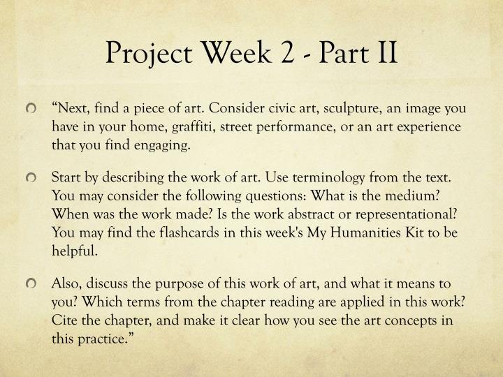 Project Week 2 - Part II