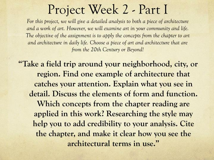 Project Week 2 - Part I