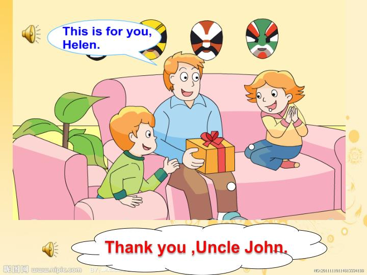Thank you ,Uncle John.