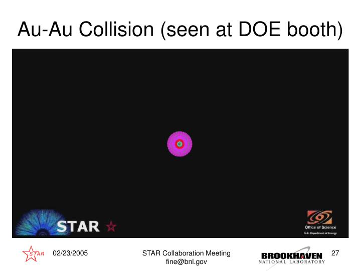 Au-Au Collision (seen at DOE booth)