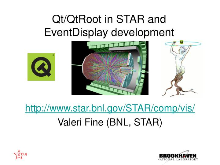 Qt/QtRoot in STAR and EventDisplay development