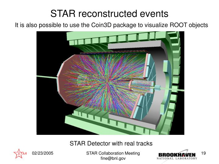 STAR reconstructed events