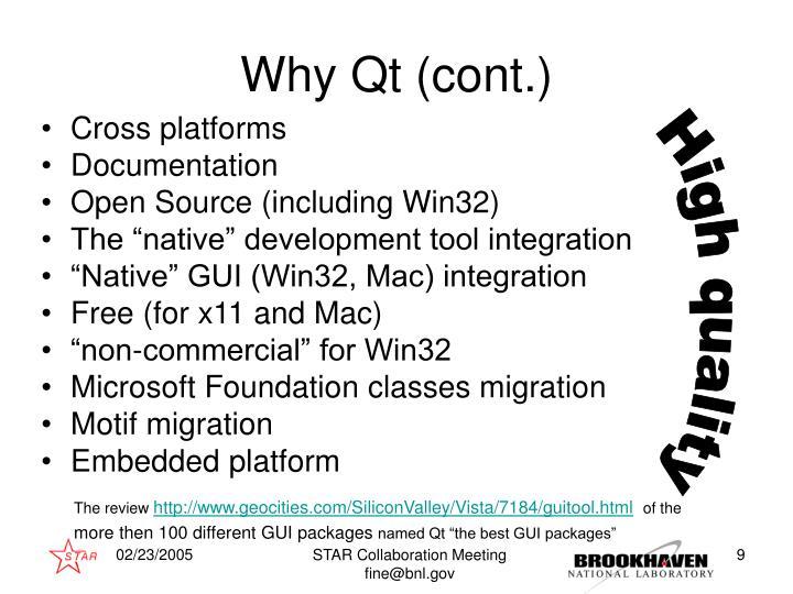 Why Qt (cont.)