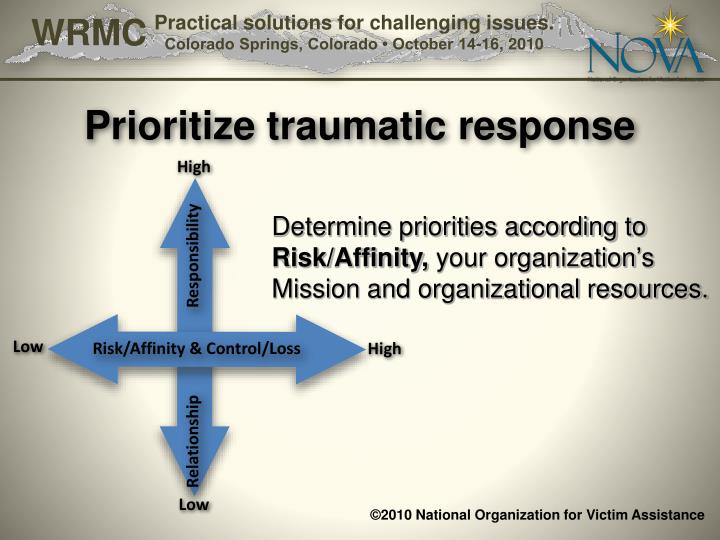 Prioritize traumatic response
