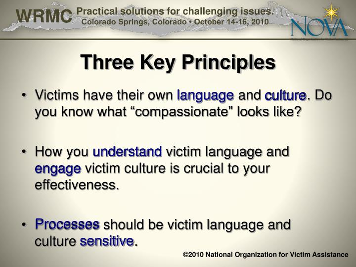 Three Key Principles