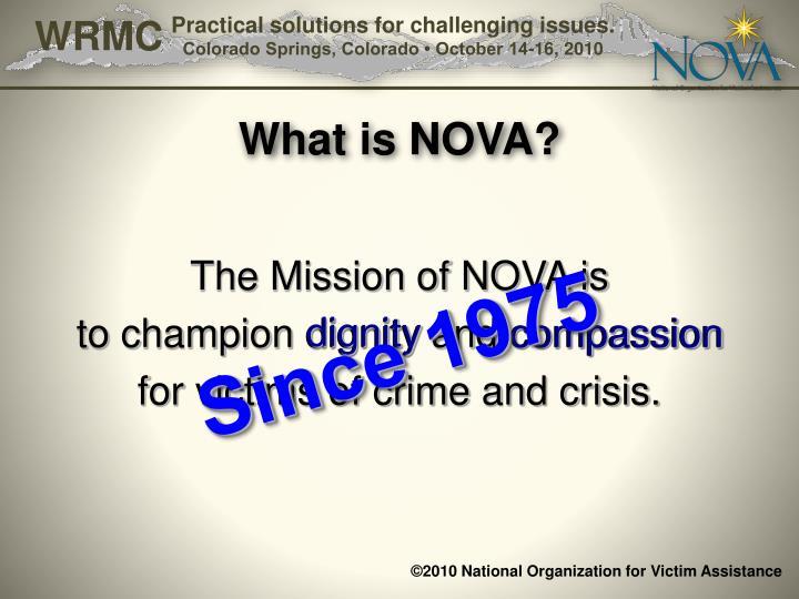 What is NOVA?