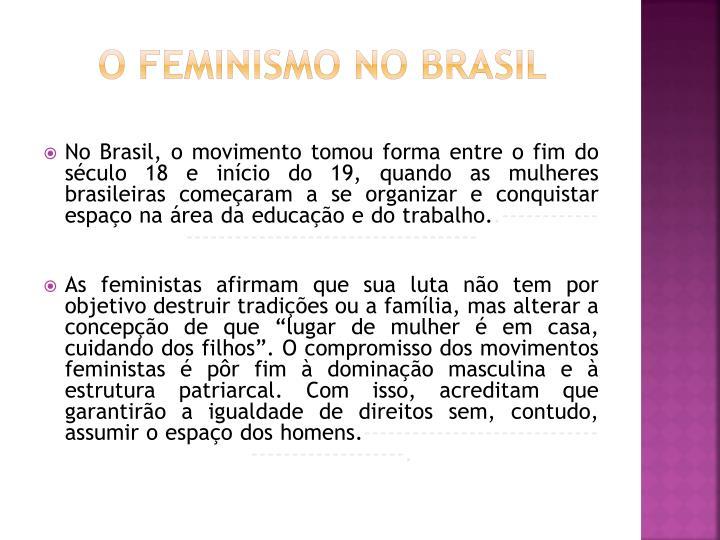O feminismo no brasil