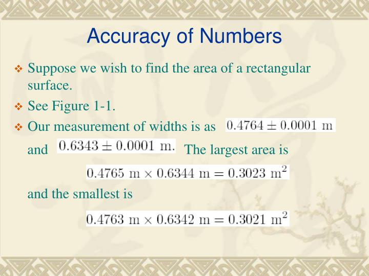 Accuracy of Numbers