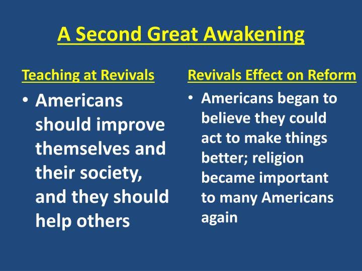 A Second Great Awakening