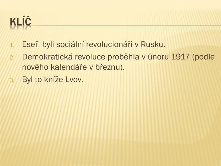 Eseři byli sociální revolucionáři v Rusku.