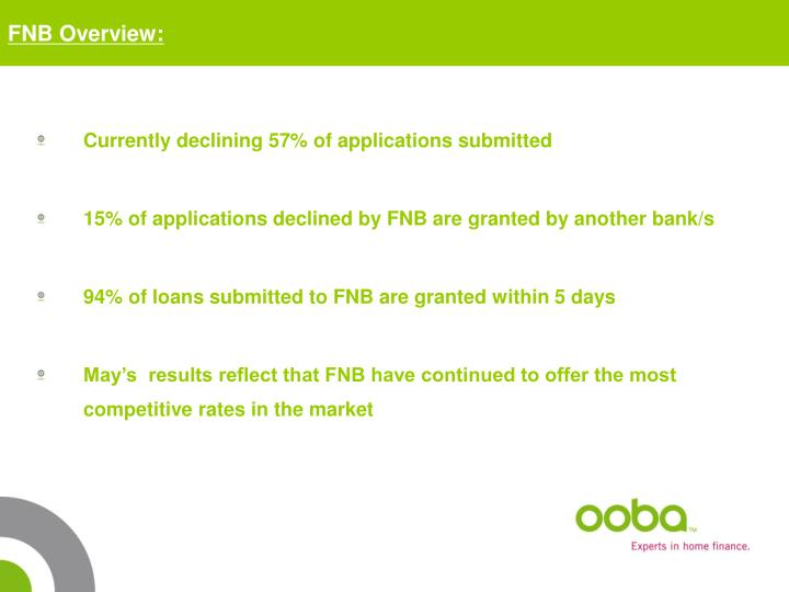 FNB Overview: