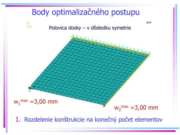 Body optimalizanho postupu