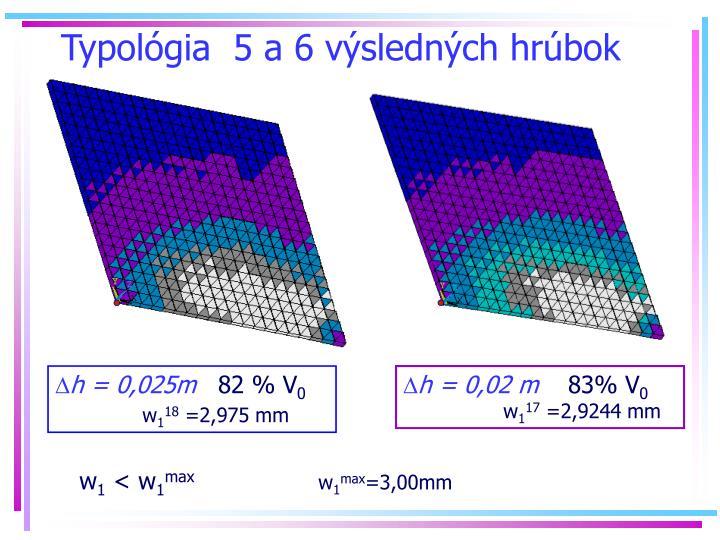 Typolgia  5 a 6 vslednch hrbok