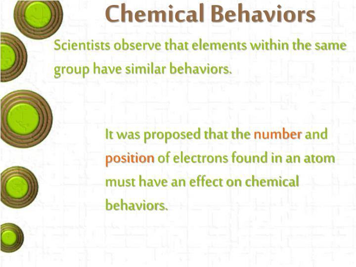 Chemical Behaviors