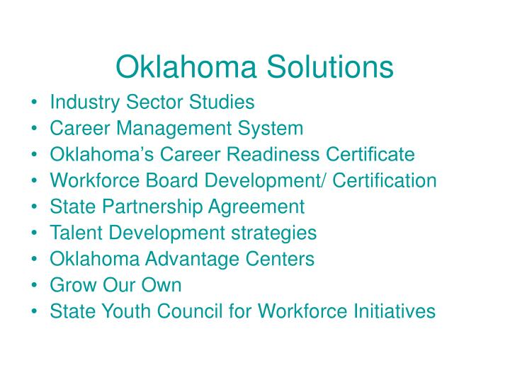 Oklahoma Solutions