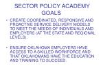 sector policy academy goals1